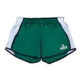 Ladies Dark Green/White Team Short-D Dartmouth Stacked