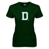 Ladies Dark Green T Shirt-Dartmouth D