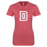 Next Level Ladies SoftStyle Junior Fitted Pink Tee-Dartmouth D