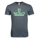 Next Level SoftStyle Charcoal T Shirt-D Dartmouth Stacked
