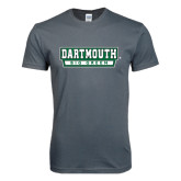 Next Level SoftStyle Charcoal T Shirt-Dartmouth Big Green