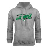 Grey Fleece Hood-Slanted Dartmouth Big Green