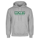 Grey Fleece Hoodie-Dartmouth Big Green