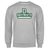 Grey Fleece Crew-D Dartmouth Stacked