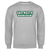 Grey Fleece Crew-Dartmouth Big Green
