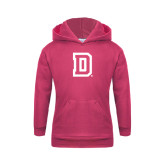 Youth Raspberry Fleece Hood-Dartmouth D