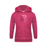 Youth Raspberry Fleece Hood-Dartmouth D Foil