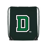 Dark Green Drawstring Backpack-Primary Mark