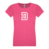 Youth Girls Fuchsia Fashion Fit T-Shirt-Dartmouth D