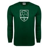 Dark Green Long Sleeve T Shirt-Dartmouth Soccer Shield