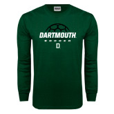 Dark Green Long Sleeve T Shirt-Dartmouth Soccer Stacked
