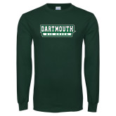 Dark Green Long Sleeve T Shirt-Dartmouth Big Green