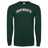 Dark Green Long Sleeve T Shirt-Dartmouth Arched