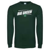 Dark Green Long Sleeve T Shirt-Big Green