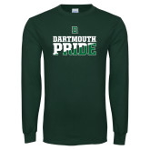 Dark Green Long Sleeve T Shirt-Dartmouth Pride