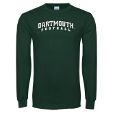 Dark Green Long Sleeve T Shirt-Football