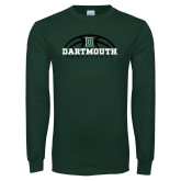 Dark Green Long Sleeve T Shirt-Basketball