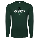 Dark Green Long Sleeve T Shirt-Soccer