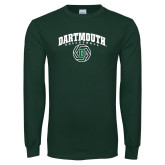 Dark Green Long Sleeve T Shirt-Volleyball
