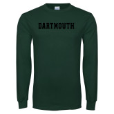 Dark Green Long Sleeve T Shirt-Dartmouth