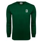 Dark Green Long Sleeve T Shirt-Dartmouth D