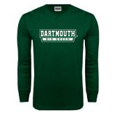 Dark Green Long Sleeve T Shirt-Dartmouth Big Green