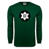 Dark Green Long Sleeve T Shirt-Dartmouth Ski