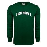 Dark Green Long Sleeve T Shirt-Arched Dartmouth