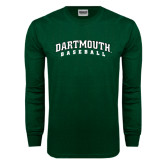 Dark Green Long Sleeve T Shirt-Baseball