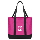 Tropical Pink/Dark Charcoal Day Tote-Dartmouth D