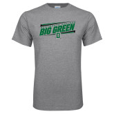 Grey T Shirt-Big Green