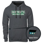 Contemporary Sofspun Charcoal Heather Hoodie-Dartmouth Big Green