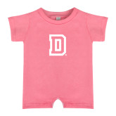 Bubble Gum Pink Infant Romper-Dartmouth D