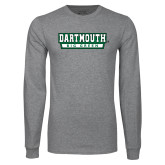 Grey Long Sleeve T Shirt-Dartmouth Big Green