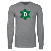 Grey Long Sleeve T Shirt-D Snowflake