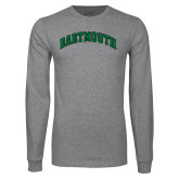 Grey Long Sleeve T Shirt-Dartmouth Arched