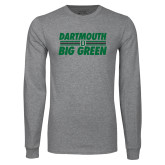 Grey Long Sleeve T Shirt-Big Green