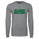 Grey Long Sleeve T Shirt-Big Green Nation