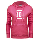 Fuchsia Fleece Hoodie-Dartmouth D