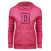 Fuchsia Fleece Hoodie-Dartmouth D Hot Pink Glitter