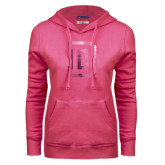 Fuchsia Fleece Hoodie-Dartmouth D Foil