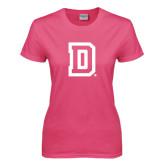 Ladies Fuchsia T Shirt-Dartmouth D