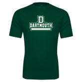 Performance Dark Green Tee-D Dartmouth Stacked