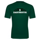 Performance Dark Green Tee-Dartmouth Basketball Half Ball