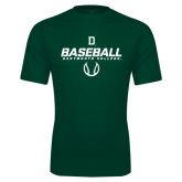 Performance Dark Green Tee-Dartmouth Baseball Stencil