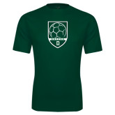 Performance Dark Green Tee-Dartmouth Soccer Shield