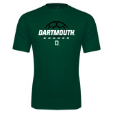 Performance Dark Green Tee-Dartmouth Soccer Stacked