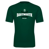 Performance Dark Green Tee-Dartmouth Softball Seams