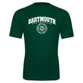 Performance Dark Green Tee-Dartmouth Volleyball Abstract Ball