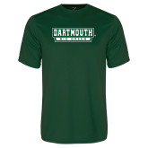 Performance Dark Green Tee-Dartmouth Big Green